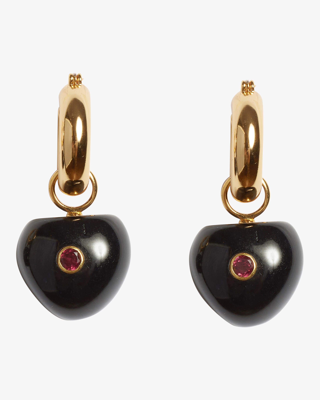 Black Cherry Hoop Earrings