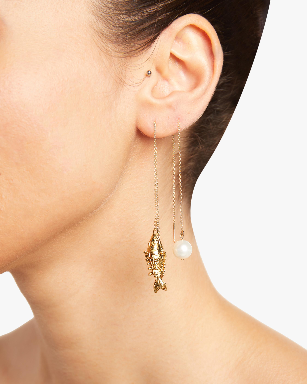 NST Studio Fish Threader Earrings 1