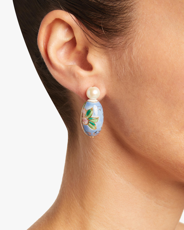Porcelain Pearl Post Earrings