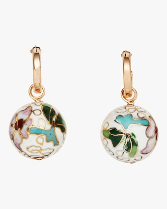 Cloisonné Hoop Earrings