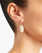 NST Studio Cloisonné and Grapevine Pearl Hoop Earrings 2