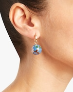 NST Studio Cloisonné and Grapevine Pearl Hoop Earrings 3