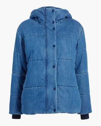 Denim Puffer Coat
