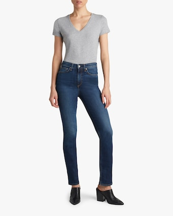 Nina High-Rise Cigarette Jeans