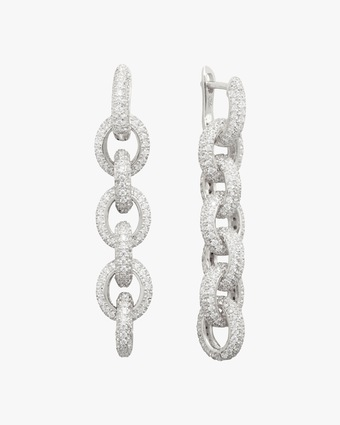 Pavé Link Drop Earrings