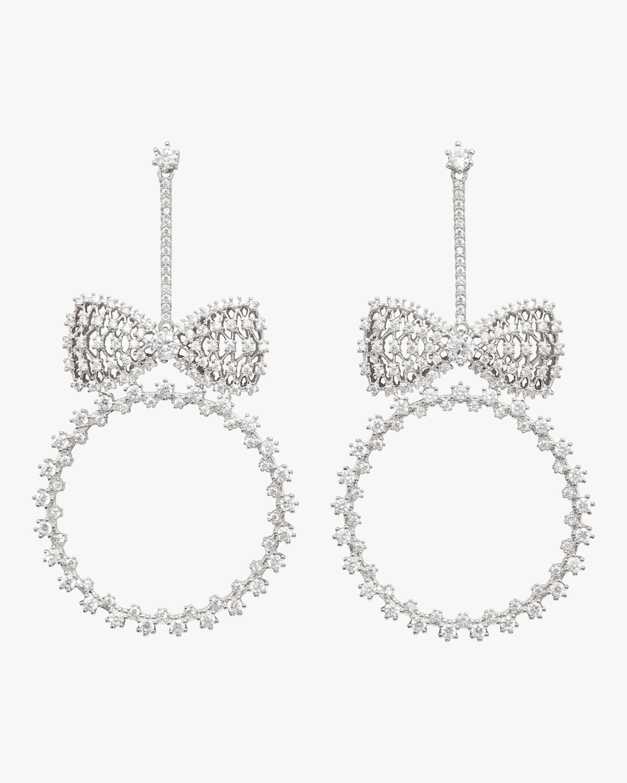 Bow And Hoop Drop Earrings