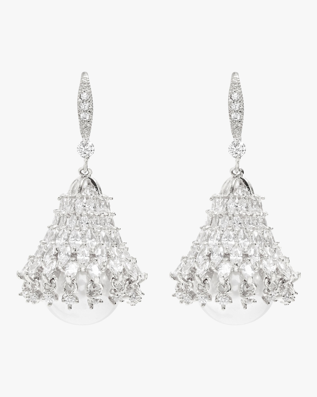 Fallon Pearl Bell Drop Earrings 2