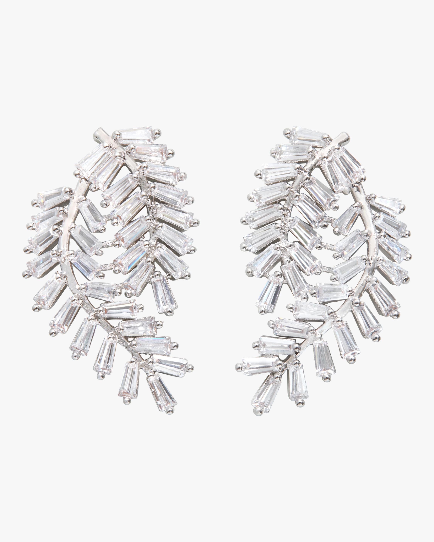 Deco Fern Stud Earrings