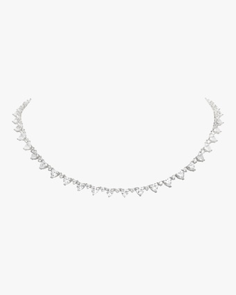 Micro Heart Rivière Collar Necklace