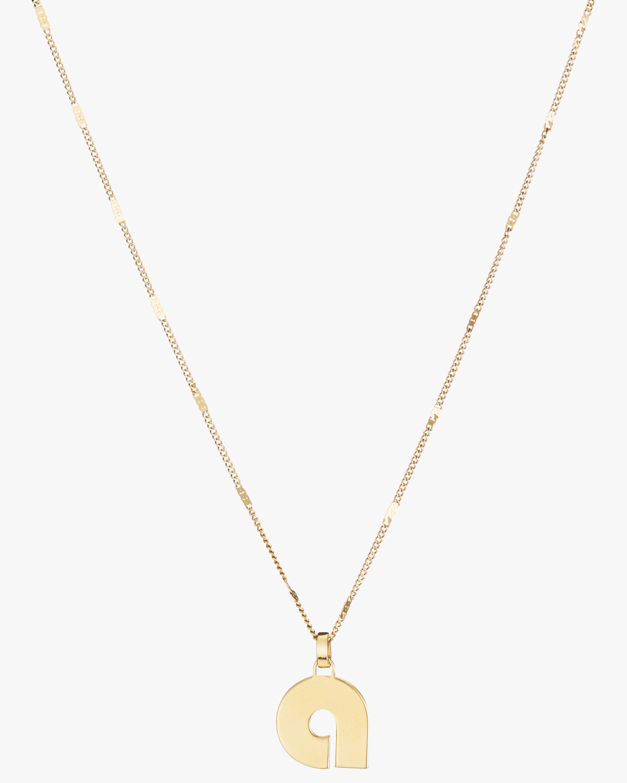Modernist Monogram Pendant Necklace