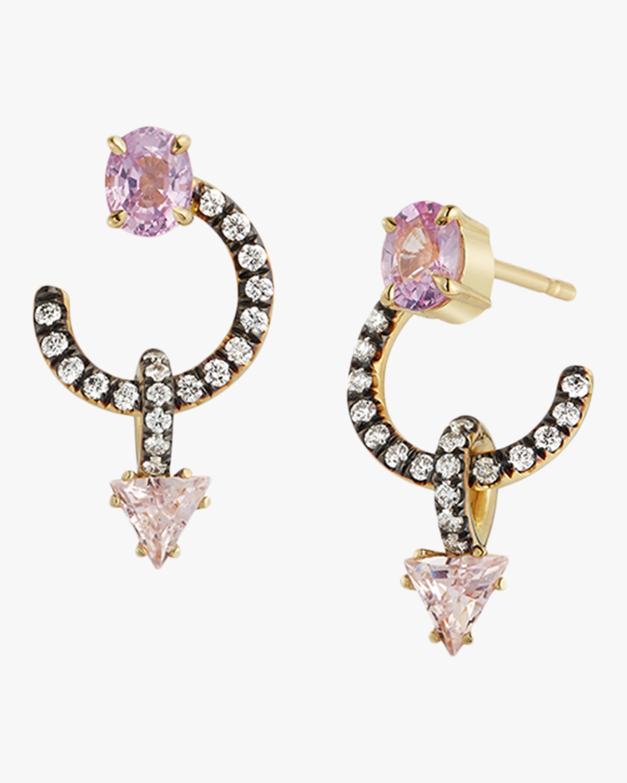 Jemma Wynne Trillion Drops Huggie Earrings 0