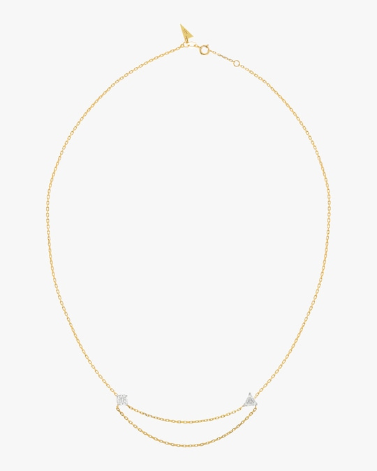 Swati Dhanak Floating Chain Necklace 0