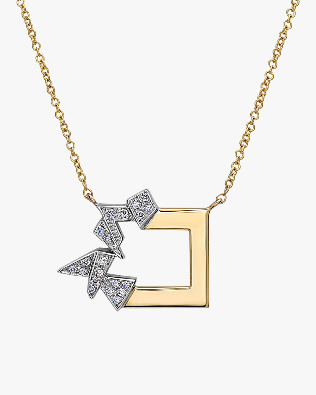 Broken Square Shards Necklace