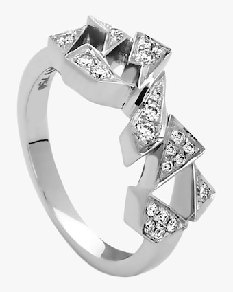 Curved Shards Midi Ring