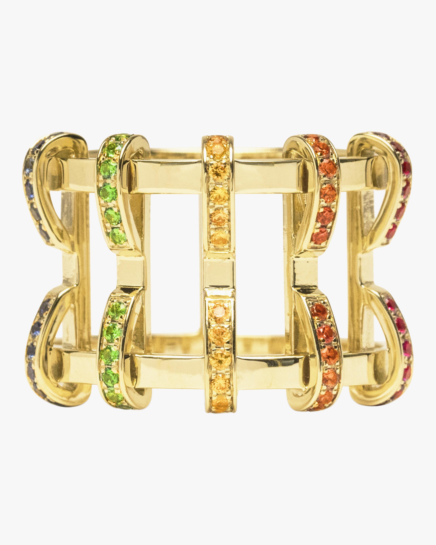 Swati Dhanak Rainbow Five Pin Cage Ring 2