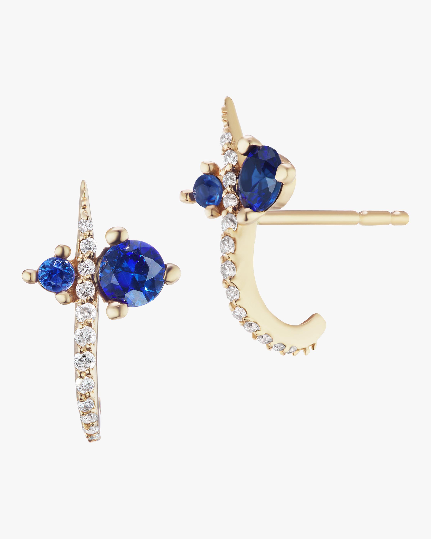 Sophie Ratner Hooked Pave Stud Earrings 0