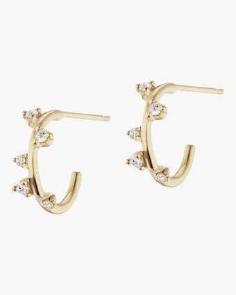 Mini Scatter Hoop Earrings