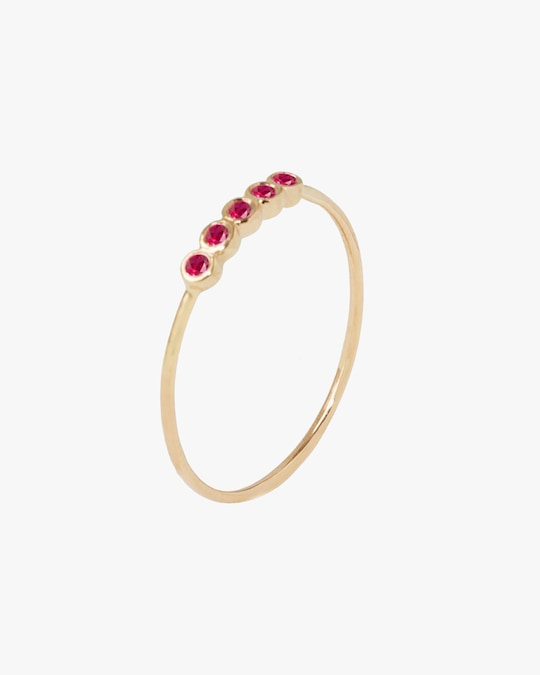 Sophie Ratner Five Ruby Orbit Ring 0