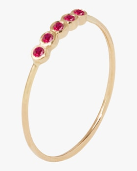 Five Ruby Orbit Ring