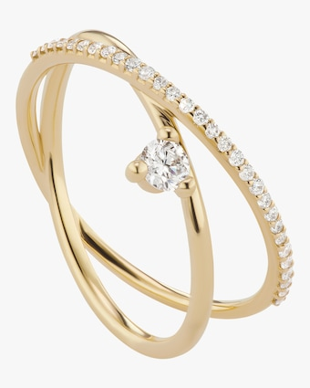 Sophie Ratner Pave Crossroads Ring 1