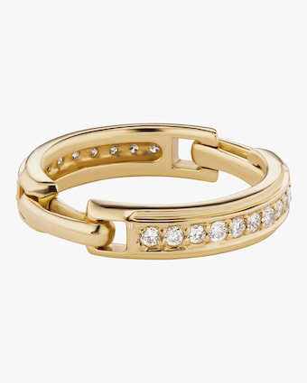 Diamond Double Hinge Ring