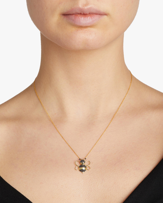 Roberto Coin Diamond Bee Pendant Necklace 1