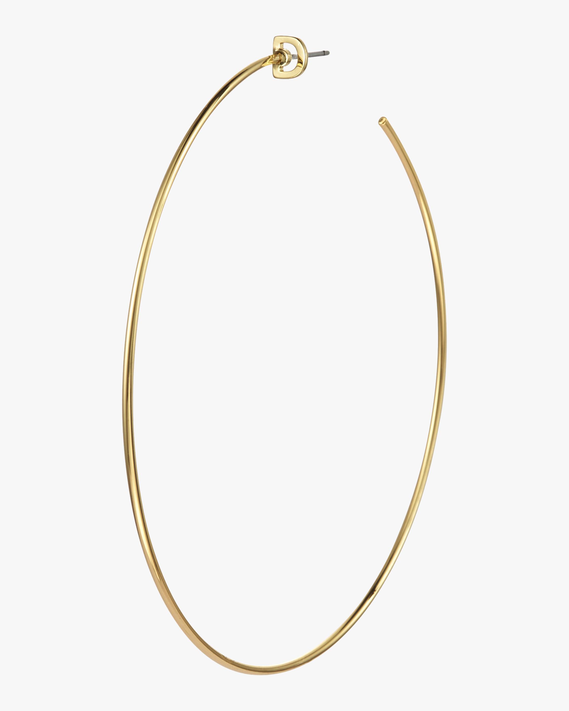 Monogram Hoop Single Earring