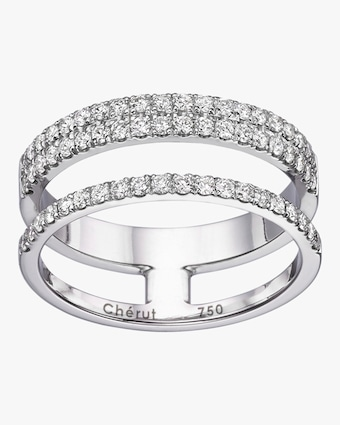 Chérut Three-Row Pavé Ring 1