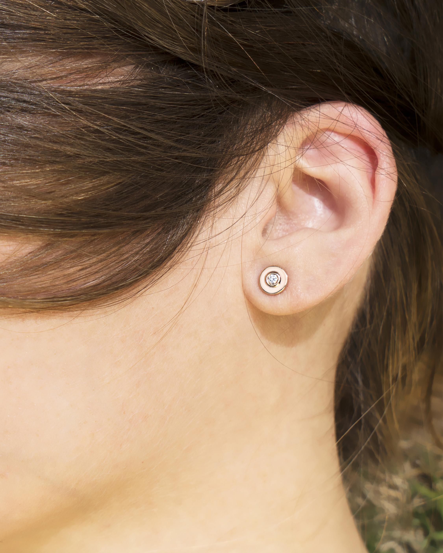 Diamond Eye Stud Earrings