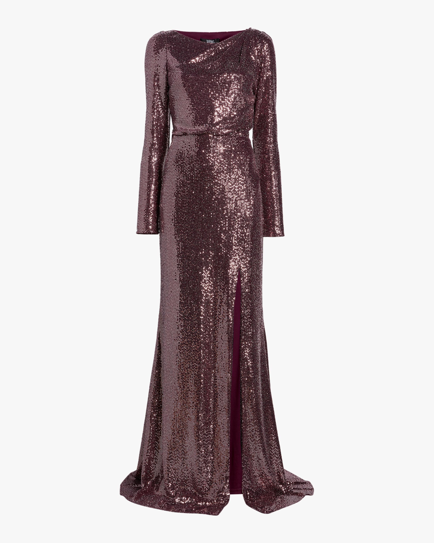 Asymmetrical Back-Cutout Gown