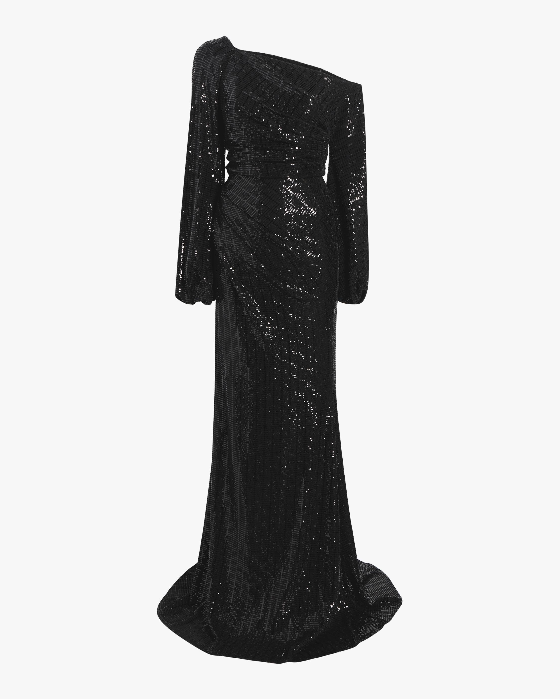 Asymmetrical Sleeve Gown
