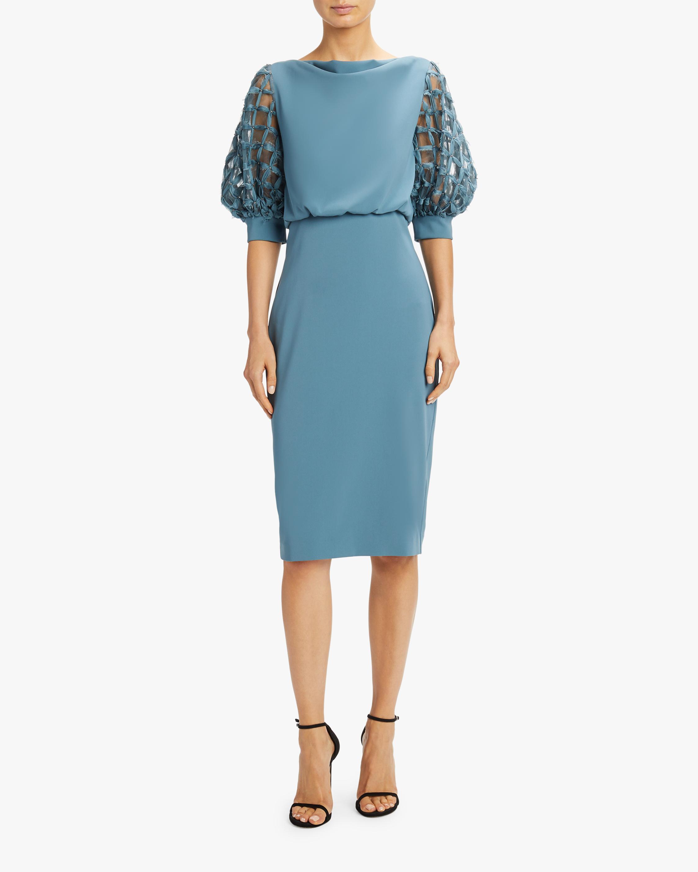 Embellished-Sleeve Dress