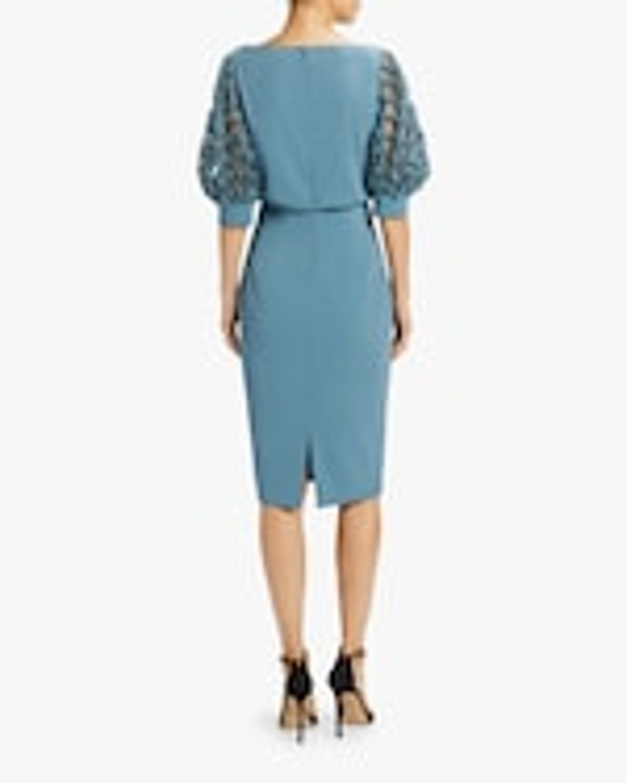 Badgley Mischka Embellished-Sleeve Dress 2