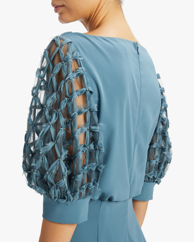 Badgley Mischka Embellished-Sleeve Dress 3