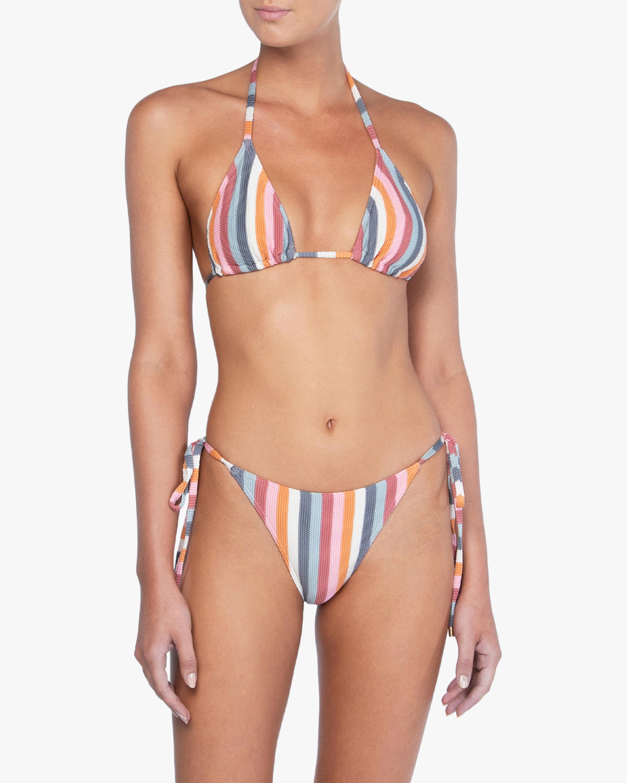 Peony Rainbow String Bikini Bottom 0