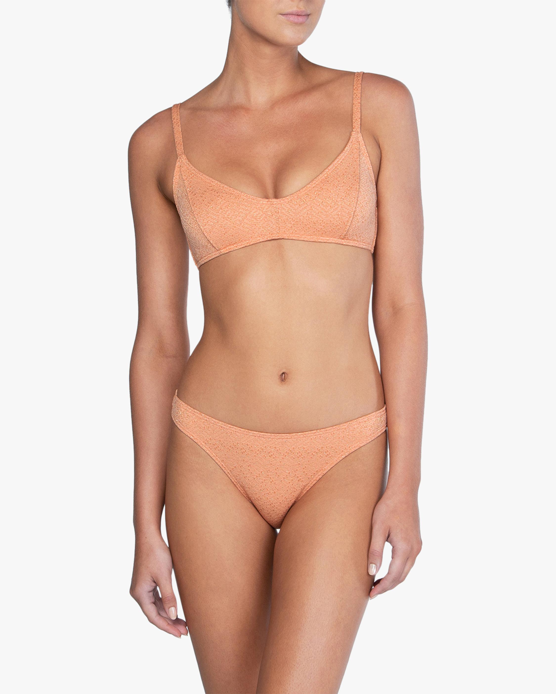 Peony Shimmer Piped Bralette Bikini Top 2