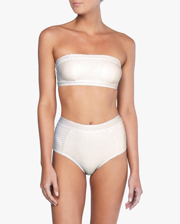 Peony Wicker Bandeau Bikini Top 1