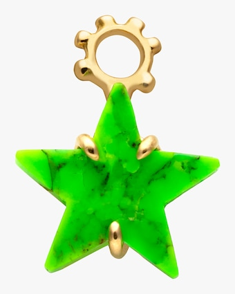 Green Turquoise Star Pendant