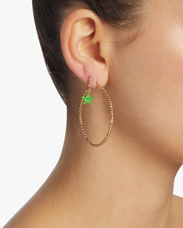 Gaya Green Turquoise Hoop Charm 2