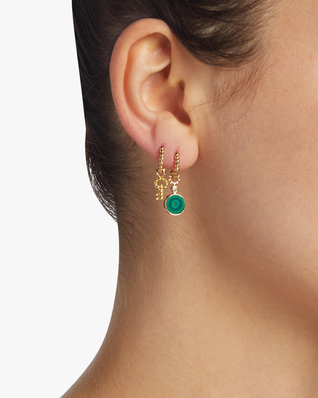 Malachite Eye & Diamond Hoop Charm
