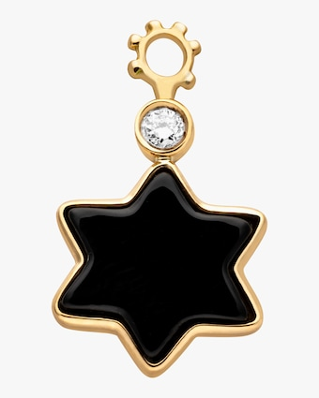 Onyx Star Hoop Charm