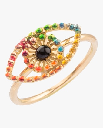 Rainbow Eye Ring