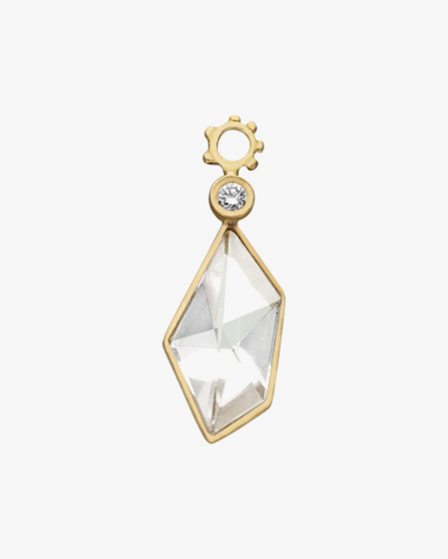 Gaya Rock Crystal & Diamond Hoop Charm 0