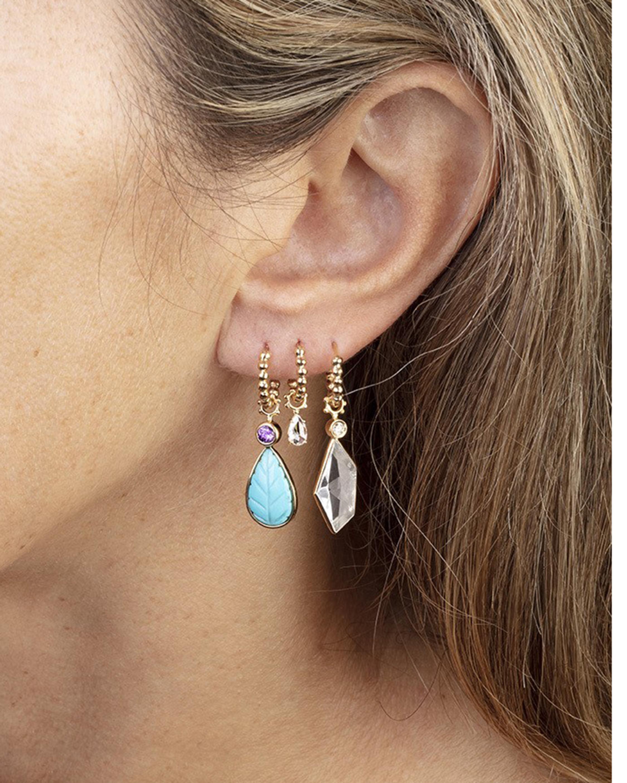 Gaya Rock Crystal & Diamond Hoop Charm 2