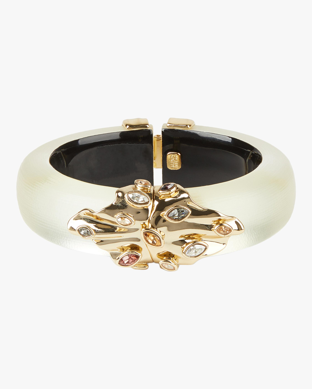 Crumpled Metal Navette Hinge Bracelet