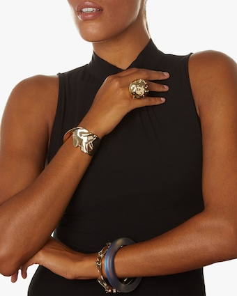 Crumpled Metal Twist Cuff
