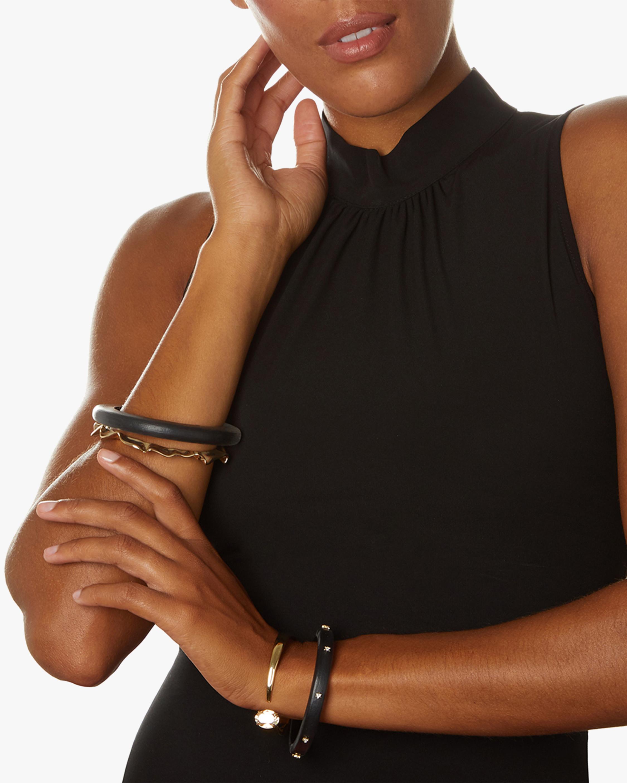 Crystal Capped Hinge Bracelet