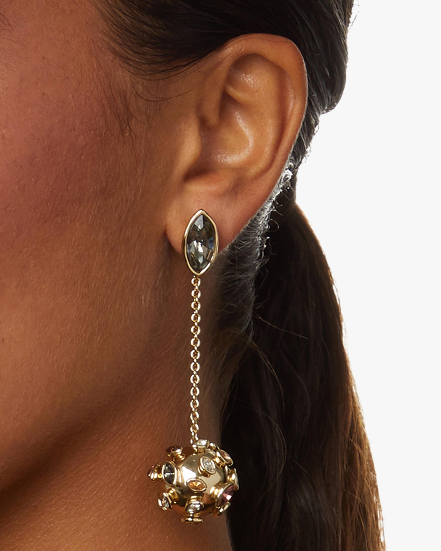 Sputnik Chain Drop Post Earrings