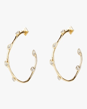 Navette Crystal Hoop Earrings