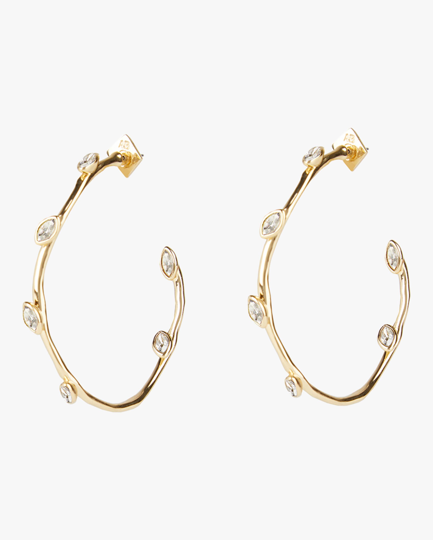 Navette Crystal Hoop Earrings